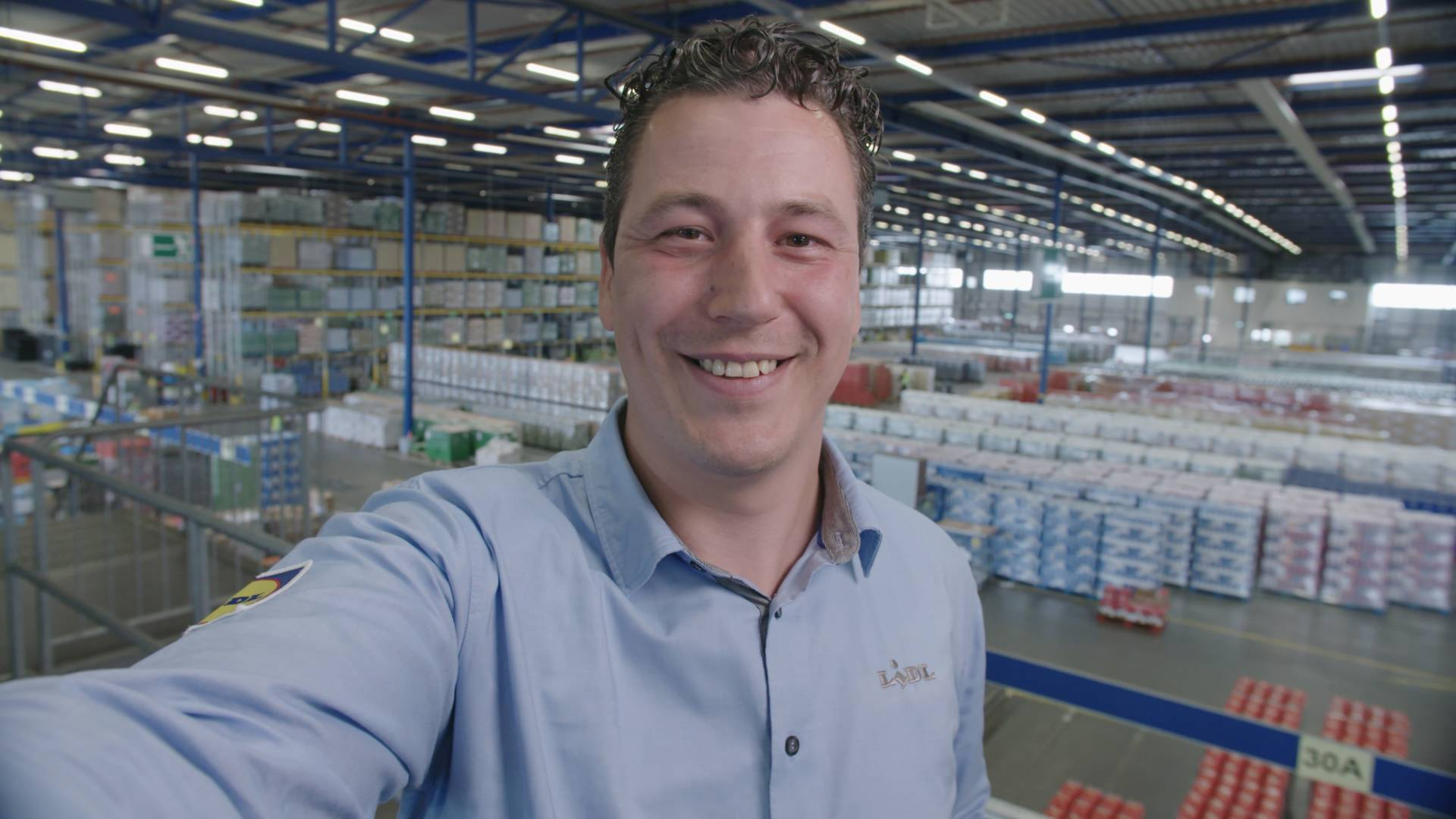 Niek- teammanager in het distributiecentrum
