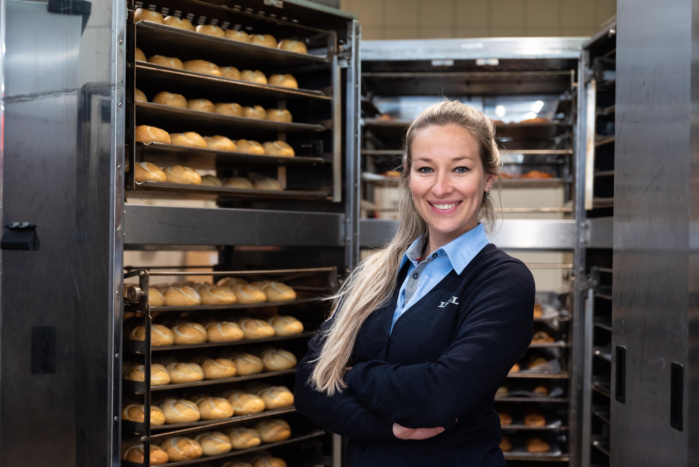 Supermarktmanager in het filiaal